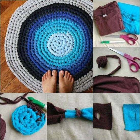 How To Make A Crochet T Shirt Rug