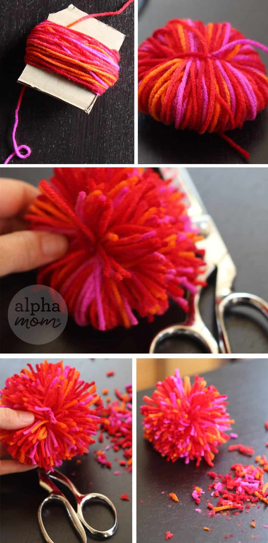 How to Make Yarn Pom Poms and Fun Crafts