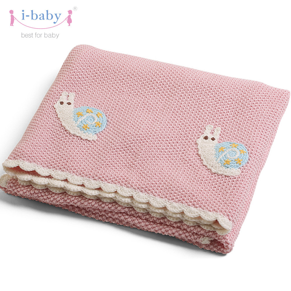 Best Of I Baby Baby Blanket Cotton Knitted Baby Bedding Snail Cotton Knit Baby Blanket Of Awesome 41 Models Cotton Knit Baby Blanket