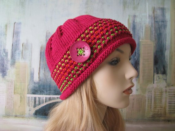instant knit hat chemo hat