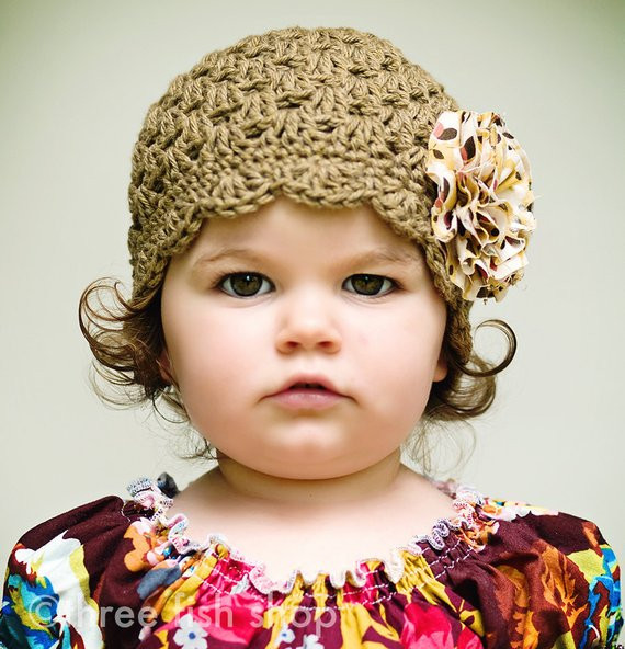 Best Of Items Similar to Crochet Hat Flower Girl organic Scallop toddler Crochet Hat Pattern with Flower Of Luxury 50 Ideas toddler Crochet Hat Pattern with Flower