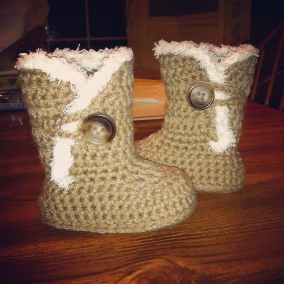 "Best Of Items Similar to Crochet ""ugg"" Styled Boots for Baby On Etsy Crochet Ugg Of New 40 Ideas Crochet Ugg"
