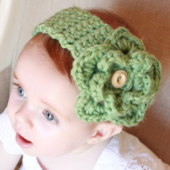 Best Of Items Similar to Crocheted Baby Headband with Detachable Crochet Headband for Babies Of Charming 46 Models Crochet Headband for Babies