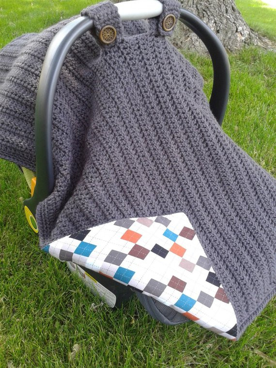 Best Of Items Similar to Crocheted Fabric Lined Infant Car Seat Crochet Car Seat Cover Pattern Of Wonderful 44 Pictures Crochet Car Seat Cover Pattern