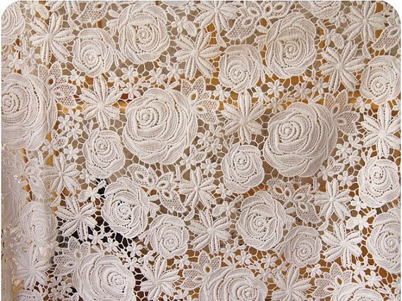 Best Of Items Similar to Ivory Wedding Lace Fabric Crochet Venice Crochet Lace Fabric Of Attractive 45 Images Crochet Lace Fabric