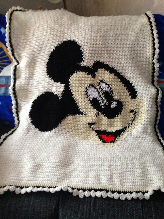 Best Of Items Similar to Mickey Mouse Crocheted Blanket Lap Size Lap Blanket Size Of Lovely 45 Images Lap Blanket Size