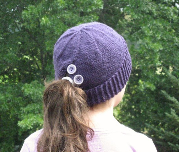 Best Of Items Similar to Ponytail Hat Purple Knit Pony Tail Hat Ponytail Knit Hat Of Top 46 Pictures Ponytail Knit Hat