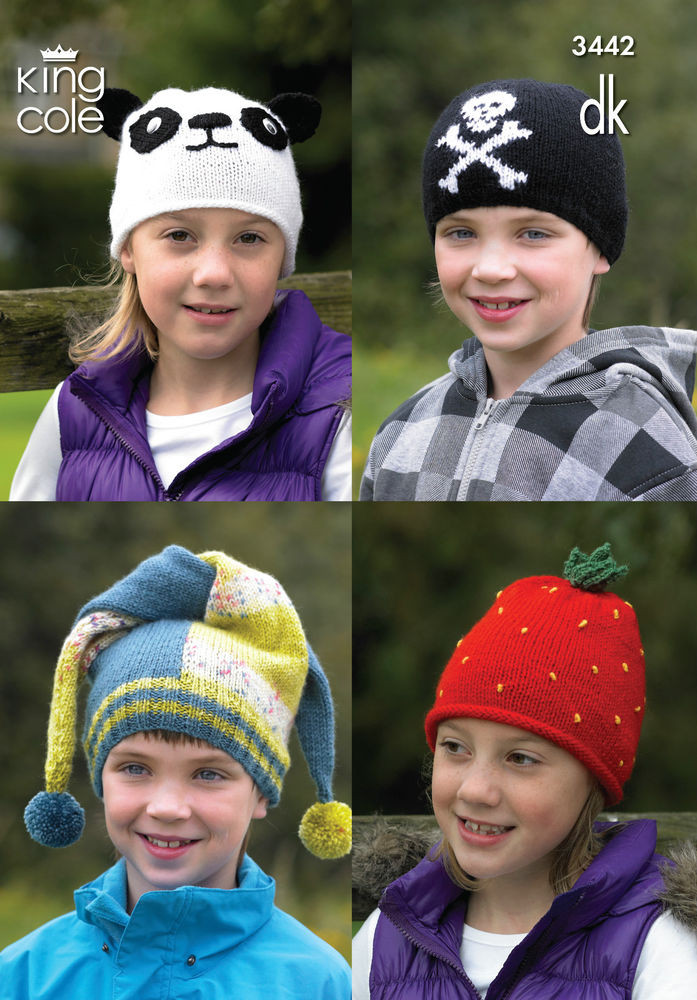 Best Of King Cole Pattern 3442 Children S Novelty Hats 2 to 12 Children's Knitted Hats Of Fresh 47 Images Children's Knitted Hats