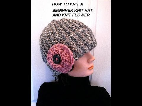 Best Of Knit Hat and Flower Easy Beginner Level Knitting Lessons Free Knitting Patterns for Beginners Of New 40 Models Free Knitting Patterns for Beginners
