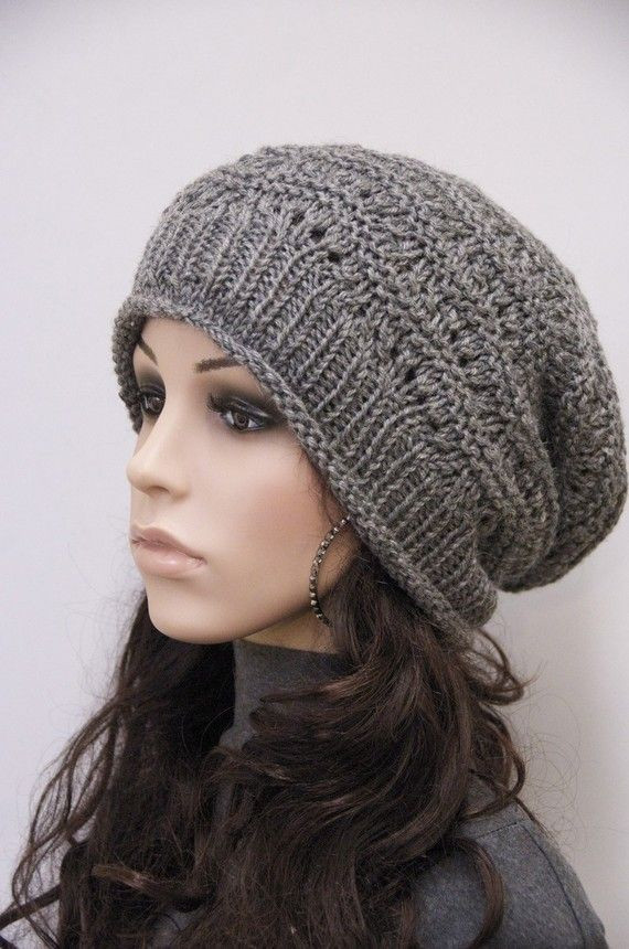 Best Of Knit Hat Charcoal Chunky Wool Hat Slouchy Hat Wool Hat Slouchy Hat Knit Pattern Of Superb 45 Ideas Slouchy Hat Knit Pattern