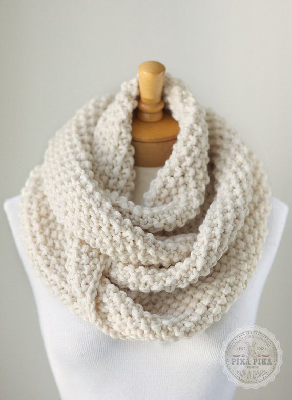 Best Of Knit Infinity Scarf Chunky Knitted Infinity Scarf In Chunky Knit Scarf Of Top 50 Photos Chunky Knit Scarf