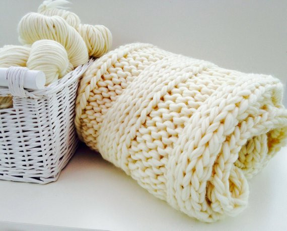 Best Of Knit Kit Throw Luxury Super Chunky Giant Blanket Diy Learn Chunky Knit Blanket Kit Of Amazing 46 Images Chunky Knit Blanket Kit