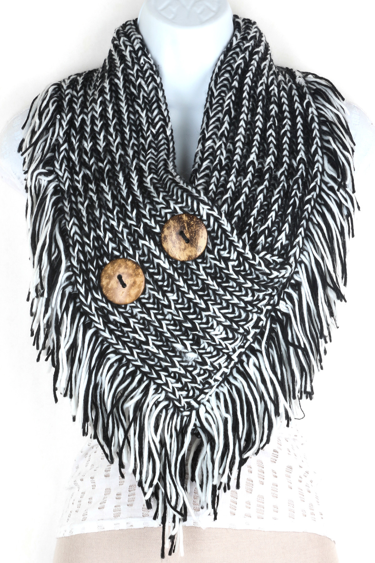 Best Of Knitted button Infinity Fringe Scarf Scarves Scarf Fringe Of Innovative 50 Pics Scarf Fringe