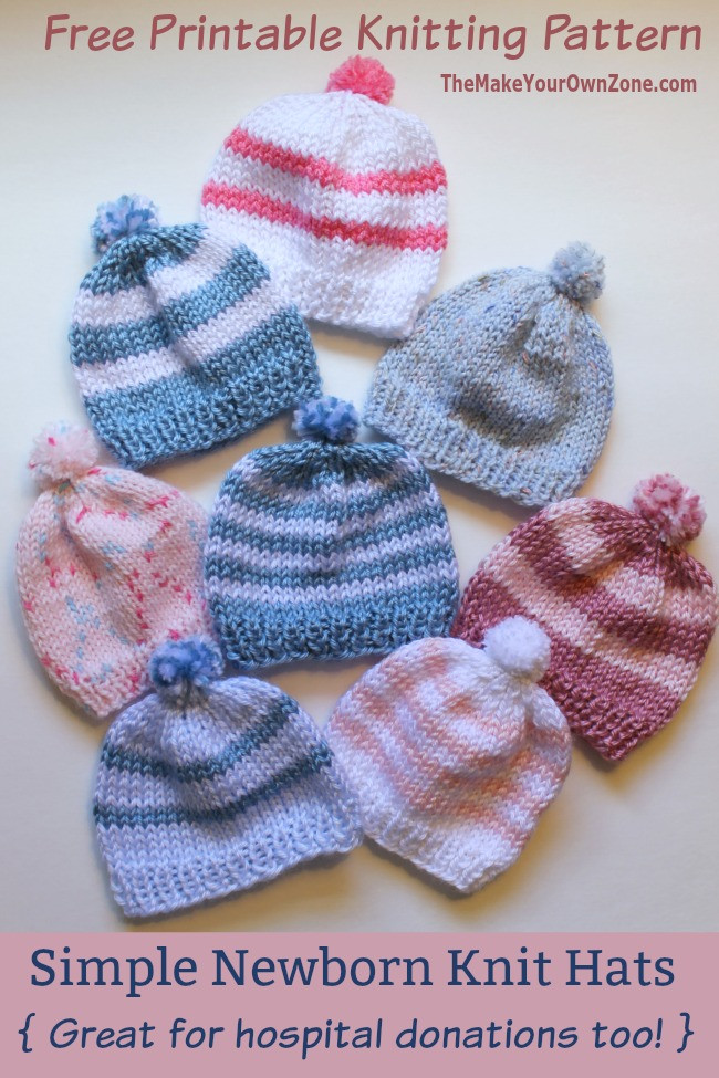 Best Of Knitting Newborn Hats for Hospitals the Make Your Own Zone Newborn Baby Hat Knitting Pattern Of New 41 Images Newborn Baby Hat Knitting Pattern