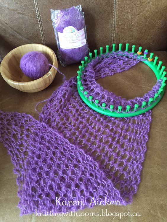 Best Of Knitting with Looms Smaller Pagosa Springs Scarf Wip Circle Loom Knitting Of Superb 50 Images Circle Loom Knitting