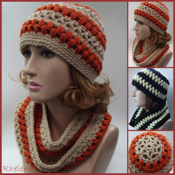 Best Of Lace and Puff Stitch Hat and Cowl Pdf Crochet Pattern Puff Crochet Of Great 49 Ideas Puff Crochet