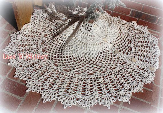 Best Of Lace and Whimsy Vintage Lace Christmas Tree Skirt Crochet Crochet Tree Skirt Of Innovative 45 Ideas Crochet Tree Skirt