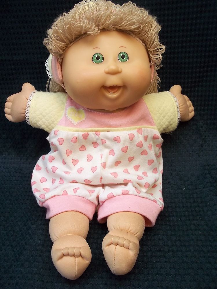 """Best Of Large 15"""" Cloth Vinyl Cabbage Patch Baby Doll Blonde Baby Cabbage Patch Doll Of Great 47 Photos Baby Cabbage Patch Doll"""