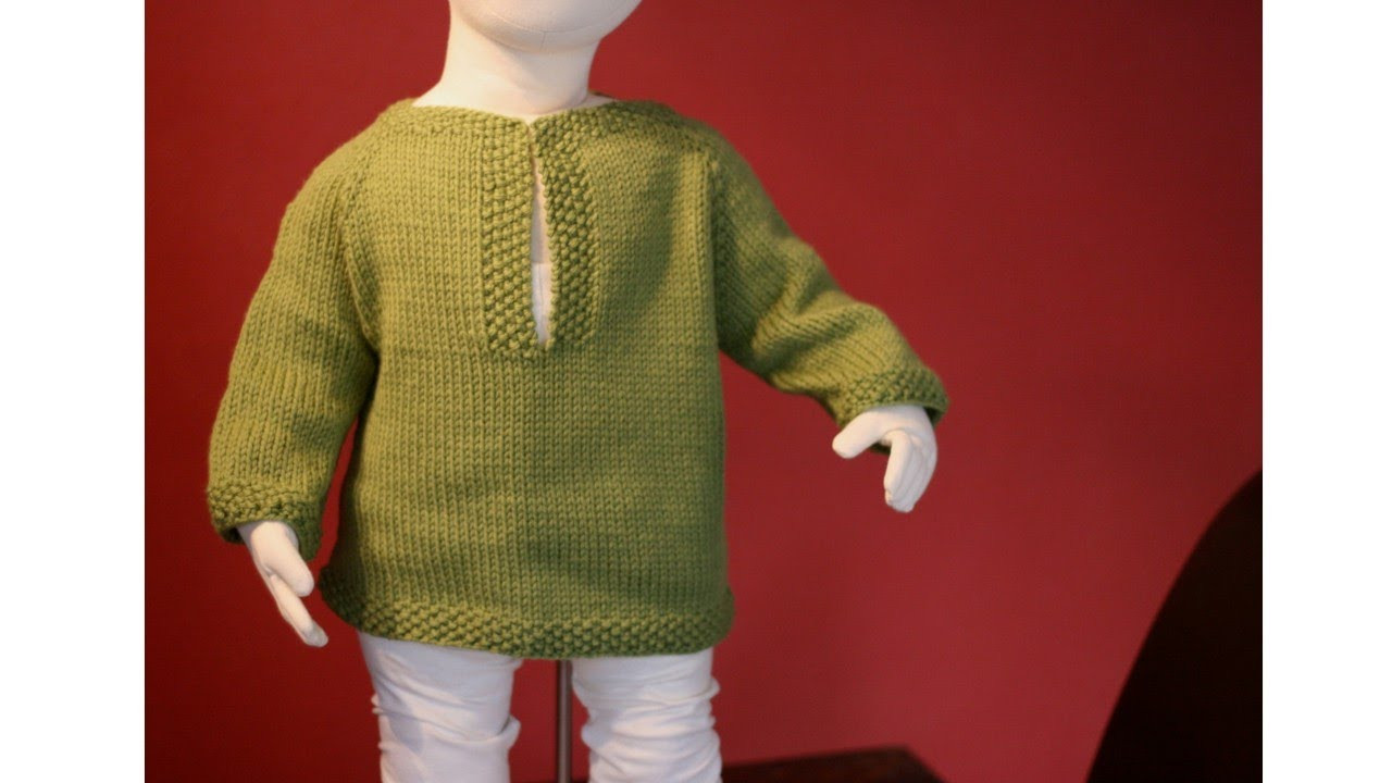 Learn to Knit a Raglan Sweater Toddler Tunic Part 1