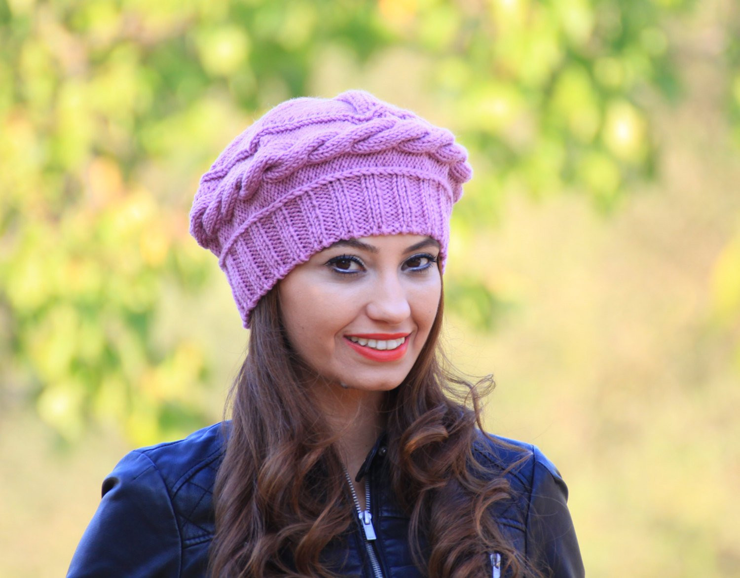 Best Of Lilac Women Knit Hat Winter Knit Beret Womens Winter Beret Knit Beret Of Beautiful 41 Models Knit Beret