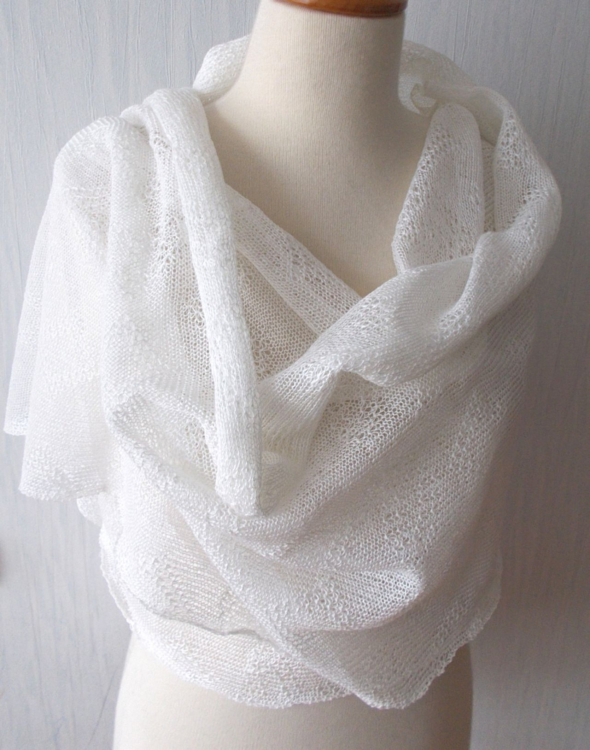 Best Of Linen Scarf White Shawl Knitted Natural Summer Wedding Wrap Knitted Shawl Wrap Of Superb 49 Images Knitted Shawl Wrap