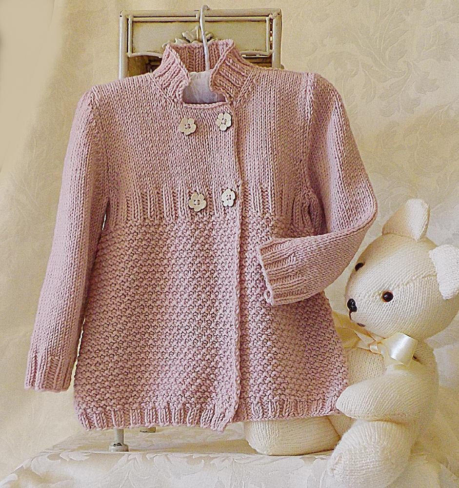 Best Of Little Girls Three Quarter Length Double Breasted Coat Jacket Knitted Coat Patterns Of Charming 41 Models Knitted Coat Patterns