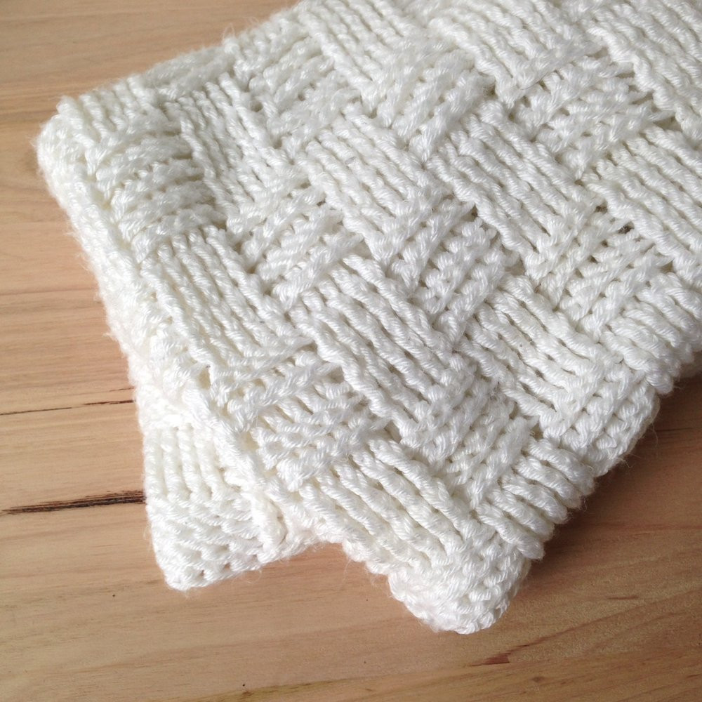 Love Your Bub Chunky Basket Weave Baby Blanket Miles and