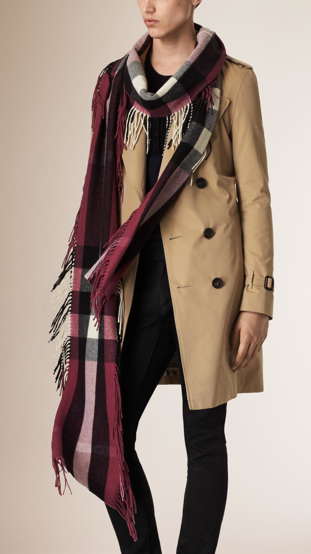 Best Of Lyst Burberry the Long Fringe Scarf In Check Cashmere In Scarf Fringe Of Innovative 50 Pics Scarf Fringe