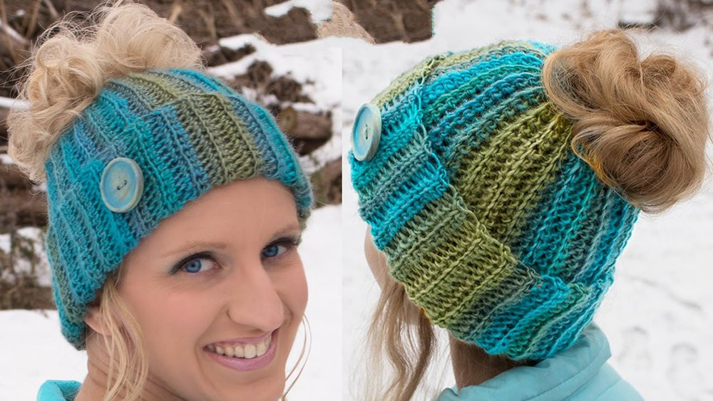 Best Of Make Your Own Awesome Ponytail Hat with these Free Crochet Hat with Ponytail Hole Of Attractive 47 Pics Crochet Hat with Ponytail Hole