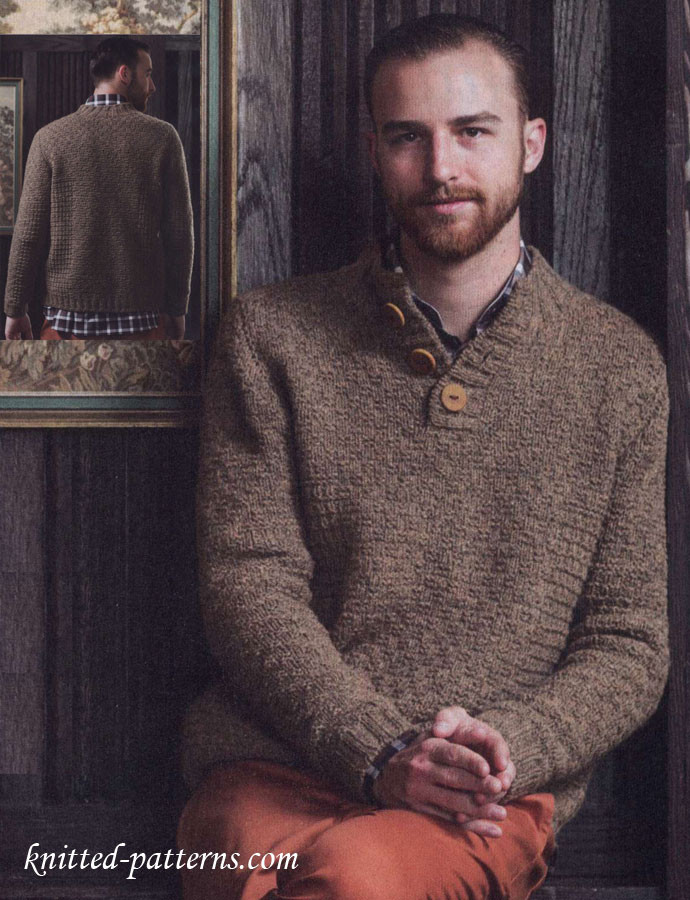 Best Of Men S Knitting Pullover Pattern Free Mens Sweater Knitting Pattern Of Adorable 48 Pics Mens Sweater Knitting Pattern