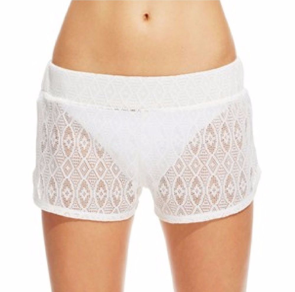 Best Of Miken Swim Cover Up Crochet Shorts In White Size S M L White Crochet Shorts Of Amazing 40 Photos White Crochet Shorts