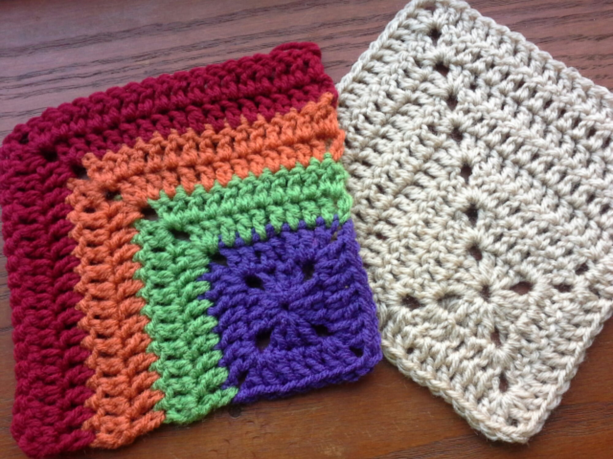 mitered crochet square – the sparkly toad