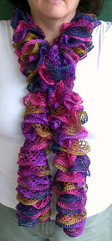 Best Of My Ruffled Scarves Red Heart Sashay Yarn Of Attractive 50 Photos Red Heart Sashay Yarn