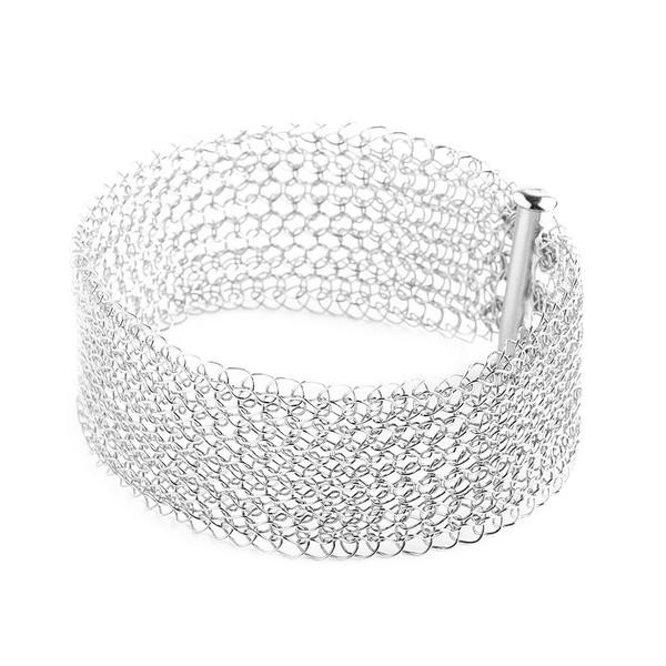Best Of Narrow Silver Cuff Bracelet Knitted Jewelry – Yooladesign Knitted Bracelet Of Brilliant 50 Models Knitted Bracelet