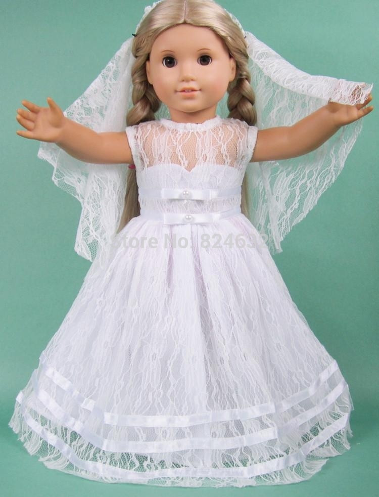 Best Of New 18 Inch American Princess Doll Clothes Outfit and American Girl Doll Wedding Dress Of Best Of White Munion Wedding Dress formal Spring Church Fits 18 American Girl Doll Wedding Dress