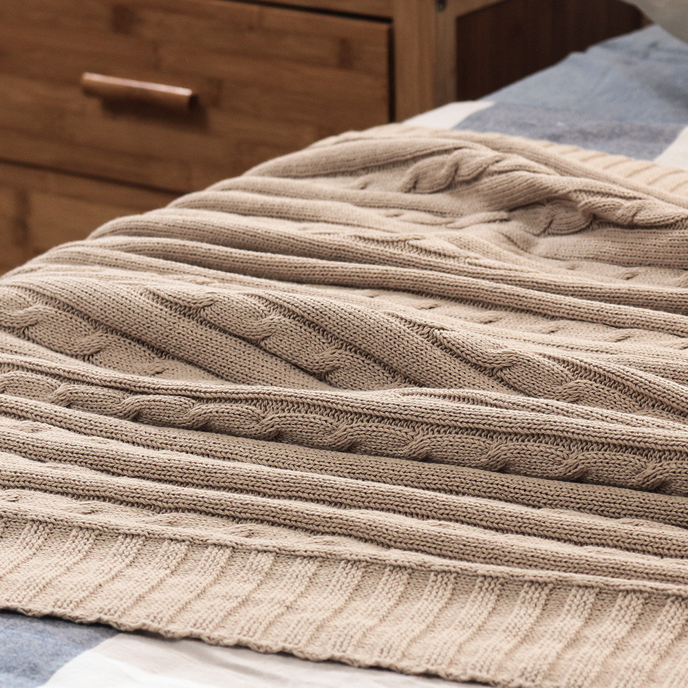 Best Of New Cotton Cable Knit Blanket sofa Super soft Cozy High Cotton Knit Blanket Of Innovative 42 Models Cotton Knit Blanket