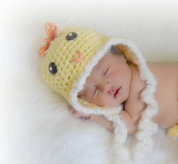 Newborn Baby Chick Hat