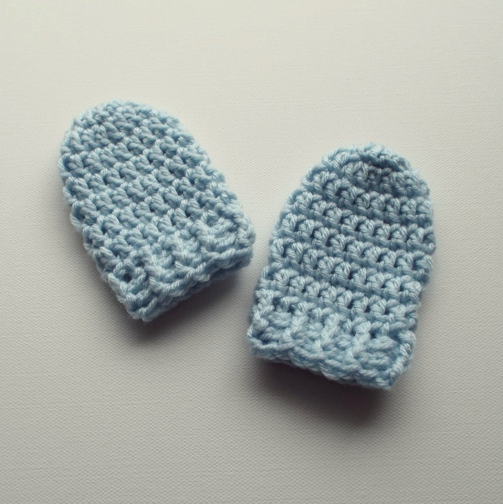 Best Of Newborn Crochet Mittens Powder Blue Mitts Baby Gloves with Crochet Baby Mittens Of Incredible 49 Photos Crochet Baby Mittens