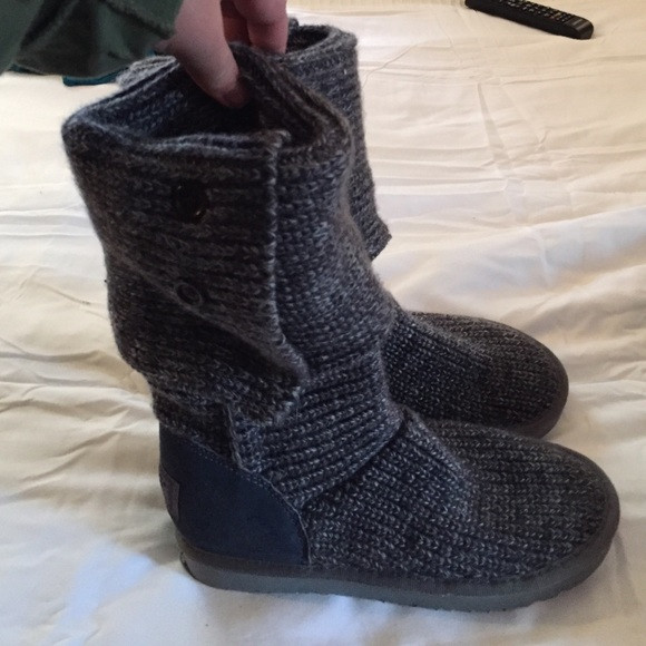 off UGG Shoes GREY CROCHET UGG BOOTS from Meghan s