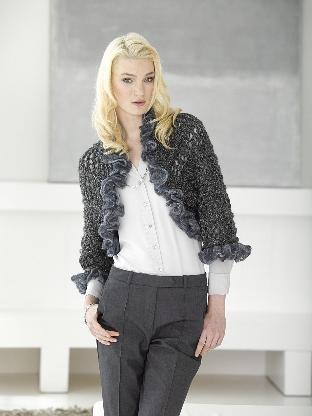Best Of Openwork Knit Shrug In Lion Brand Homespun Thick & Quick Knit Shrug Of Fresh 48 Ideas Knit Shrug
