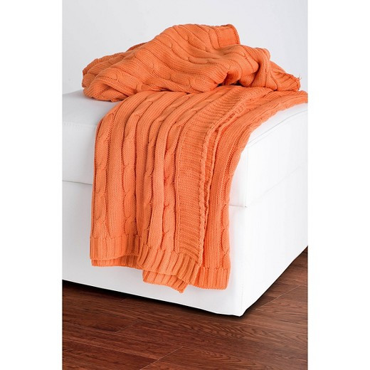 Best Of orange Cable Knit Throw Rizzy Home Tar Cable Knit Sweater Blanket Of Incredible 50 Photos Cable Knit Sweater Blanket