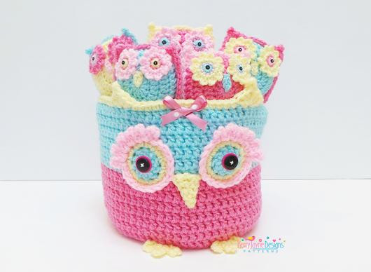Owl Basket and Bunting Crochet Pattern – Kerry Jayne Designs