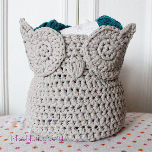 Owl Zpa ti Yarn Basket