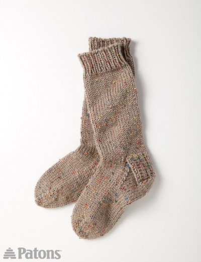 Patons Slouchy Socks Knit Pattern