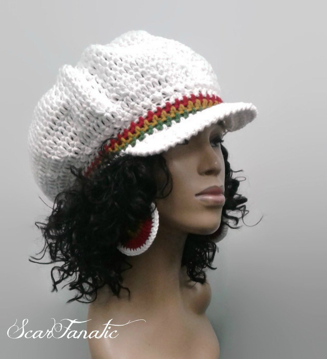 Best Of Pattern Only Easy Crochet Rasta Brimmed Beanie Newsboy Hat Crochet Hat with Brim Pattern Of Contemporary 46 Photos Crochet Hat with Brim Pattern