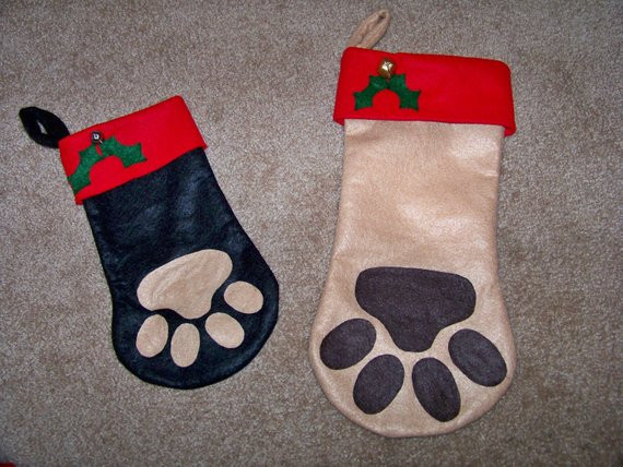 Best Of Paw Print Christmas Stocking for Your Furry Family Members Dog Paw Stocking Of Charming 44 Ideas Dog Paw Stocking