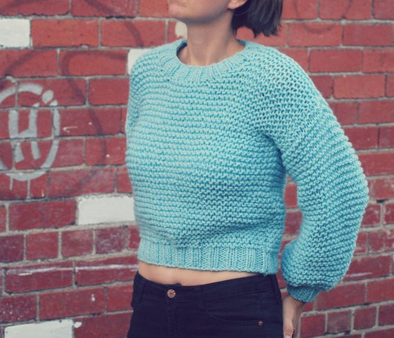PDF Knitting Pattern Super Chunky Easy Knit Jumper Sweater