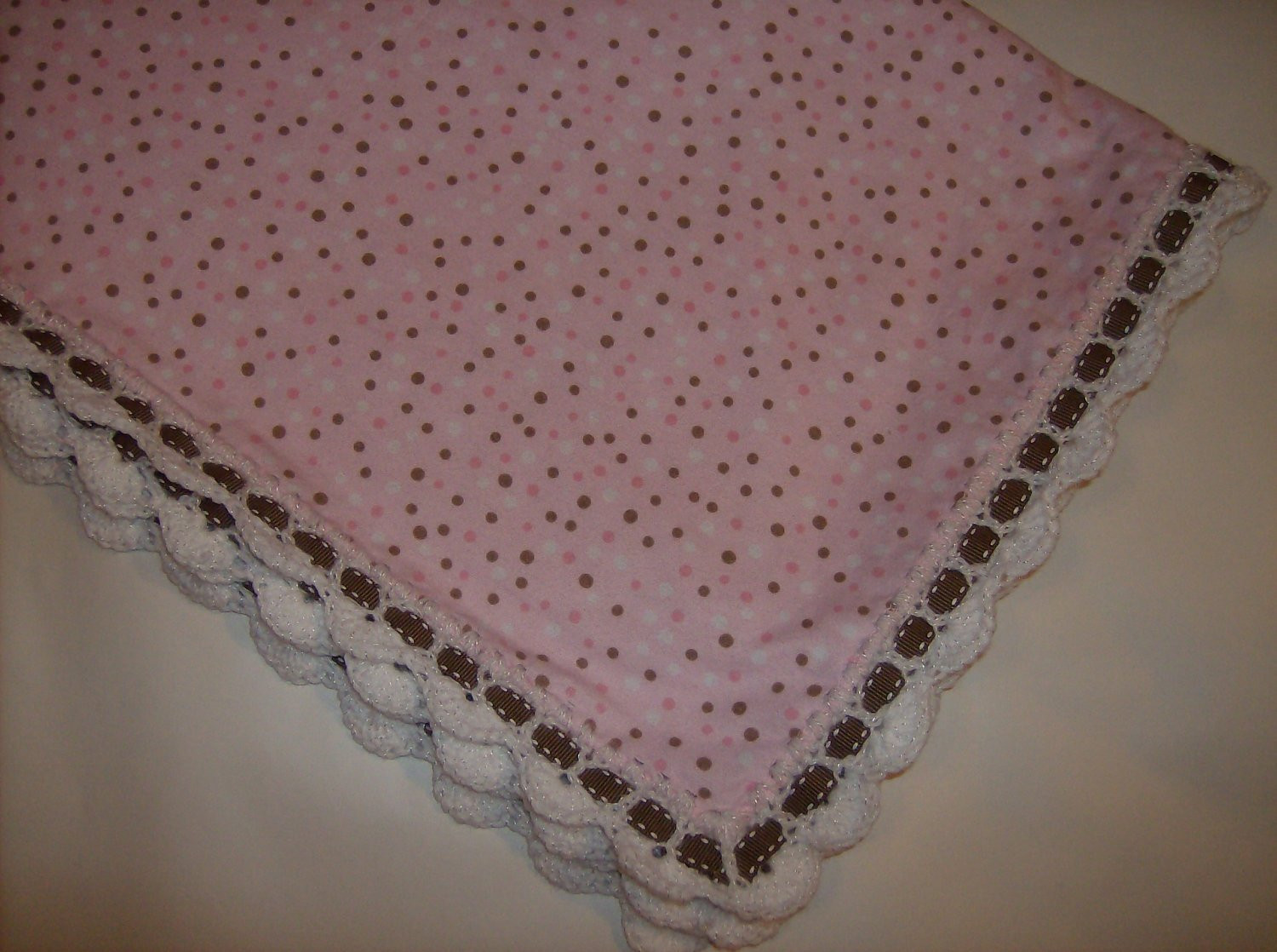 Best Of Pink Flannel Baby Blanket with Crochet Edging by Sherrywilsew Crochet Baby Blanket Edging Of Wonderful 42 Images Crochet Baby Blanket Edging