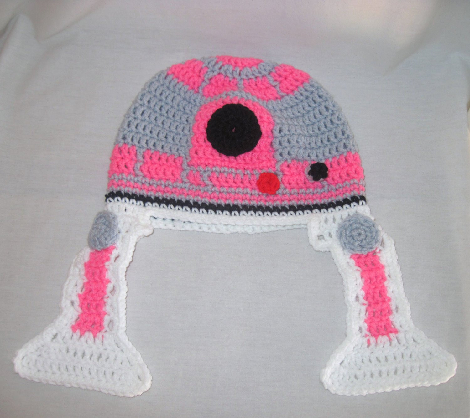 Best Of Pink R2d2 Crochet Hat with Ear Flaps Pink Crochet Hat Of Great 43 Models Pink Crochet Hat