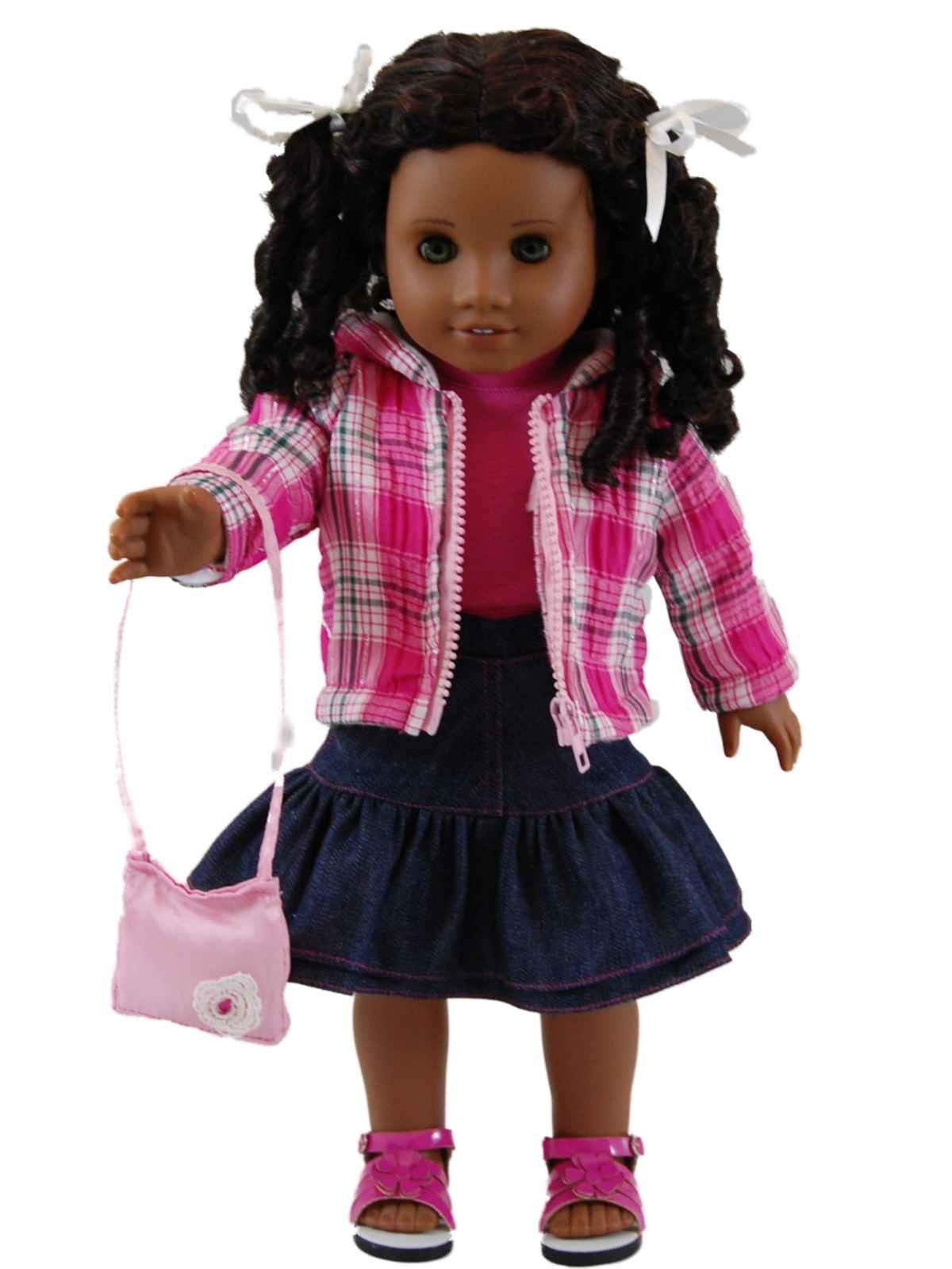 Best Of Plaid Jacket and Denim Doll Clothes Skirt Set for 18 American Girl Doll Skirts Of Incredible 50 Ideas American Girl Doll Skirts